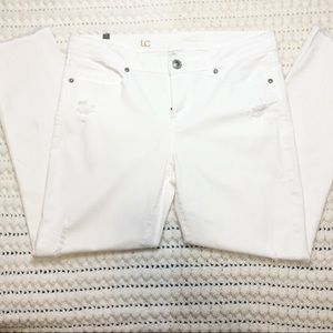LC Lauran Conrad skinny crop jeans size 10 white